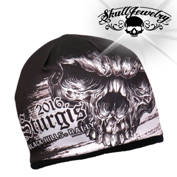 Official Sturgis Motorcycle Rally Shredder Skull Beanie
