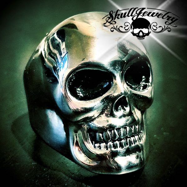 Big BUFF Solid Skull Ring