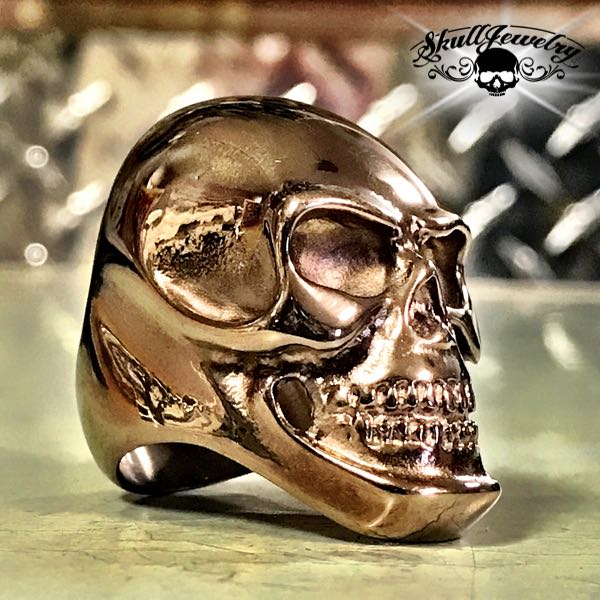 'Carried Away' Big, Bold & Heavy Steel Skull Ring