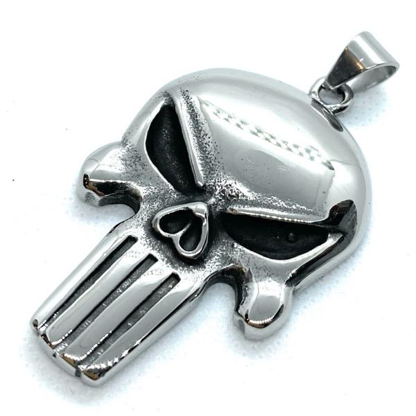 big bold and heavy punisher pendant - smooth