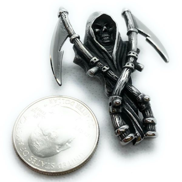 big bold heavy grim reaper night stalker pendant