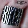 badass biker stainless steel ring from skull jewelry