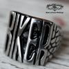 badass biker stainless steel ring