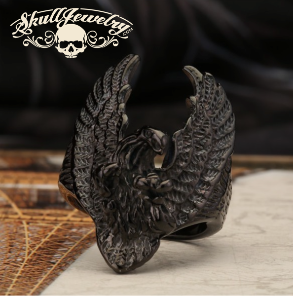 BLACK 'Fly Like an Eagle' Big, Bold & Heavy Ring