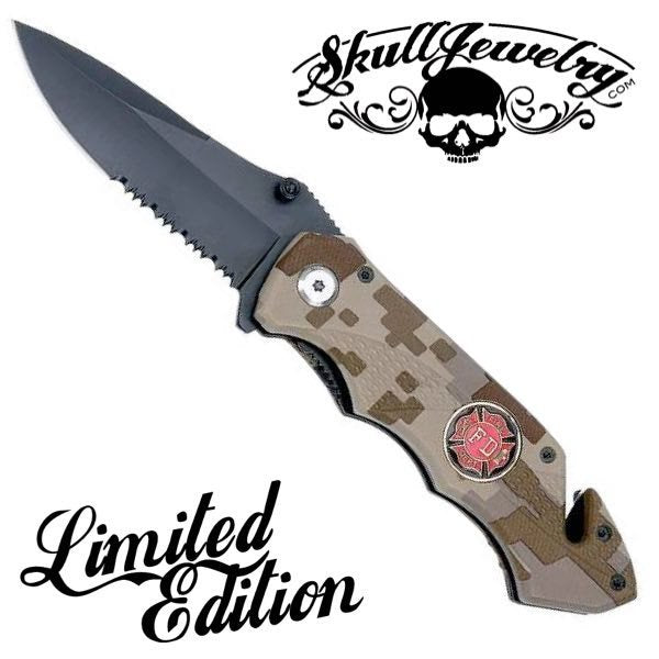 LIMITED EDITION - Fire Department Badge Knife (c006)