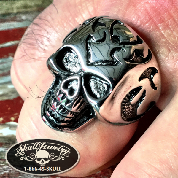 'Arrowhead' Skull Ring (c009)