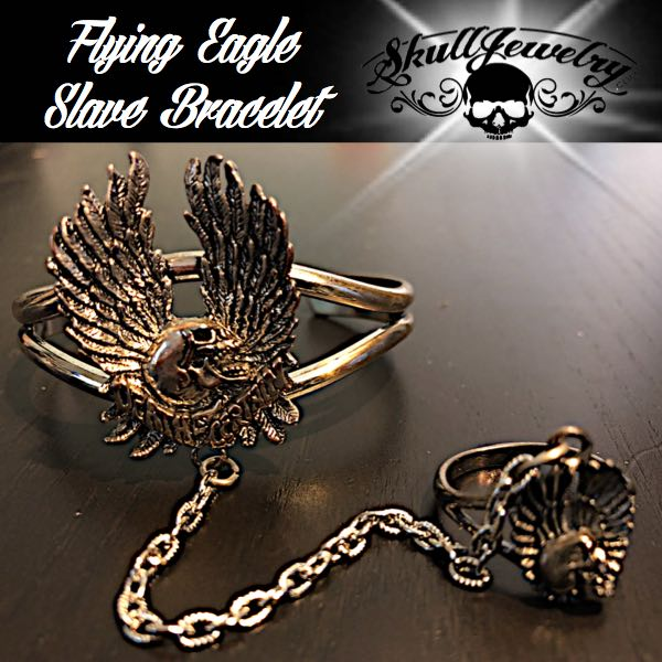 flying eagle slave bracelet with matching ring