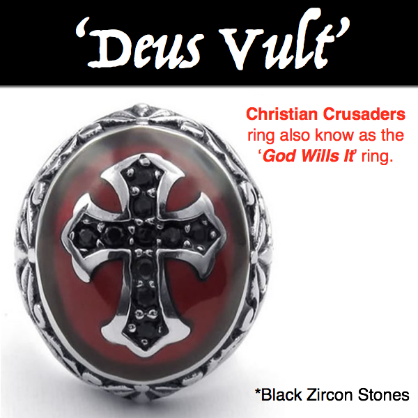 Deus Vult - Christian Crusaders - God Wills It Ring