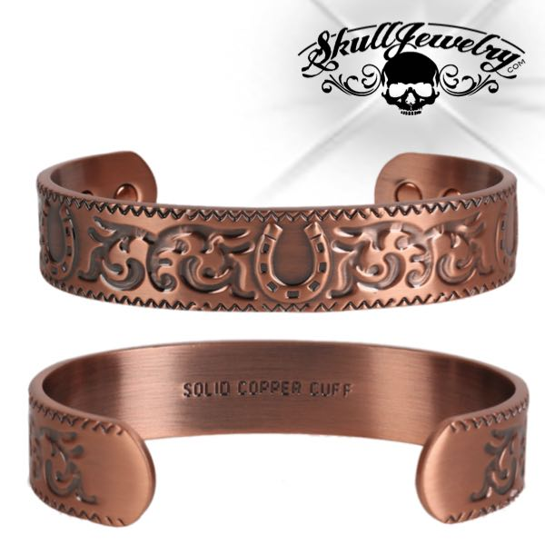 'Wild Horses' Solid Copper Cuff Bracelet