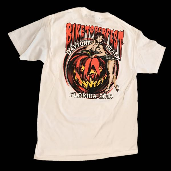 'PinUp Girl On Pumpkin' Biketoberfest 2015 T-Shirt