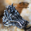 Vintage Gothic Dragon with Black Zircon Eyes (517)