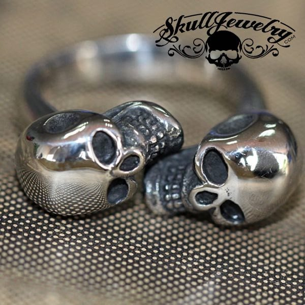 Double vision skull ring
