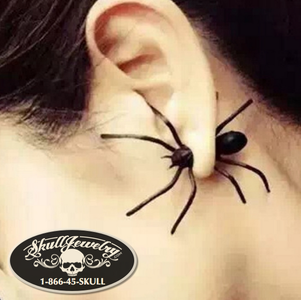 Black Widow Spider Earring