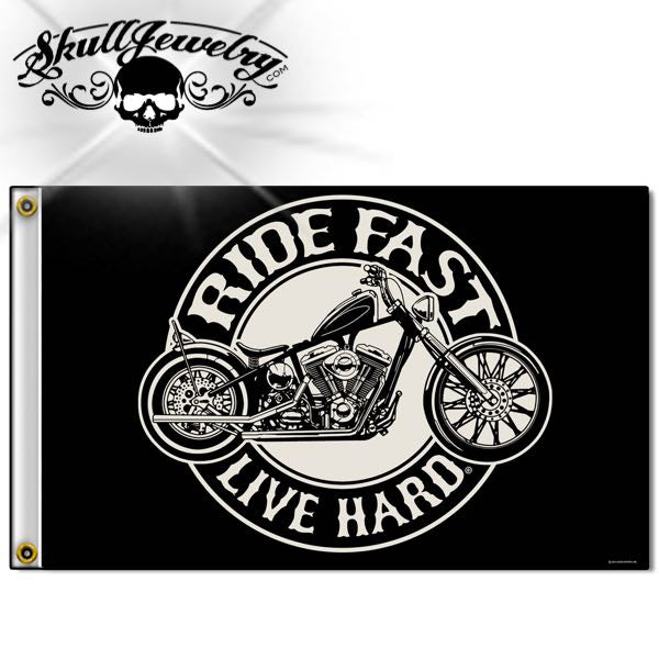 'Ride Fast - Live Hard'  - 3' X 5' FLAG