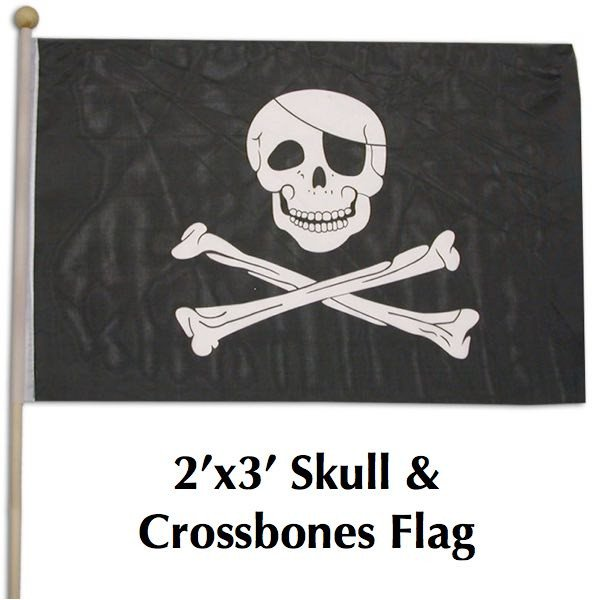 2x3 skull and crossbones flag