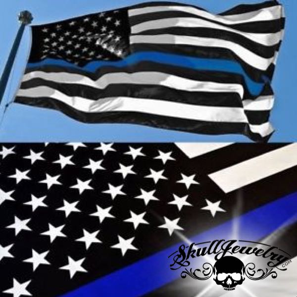 3' x 5' Thin Blue Line American Flag Black & White (f684)
