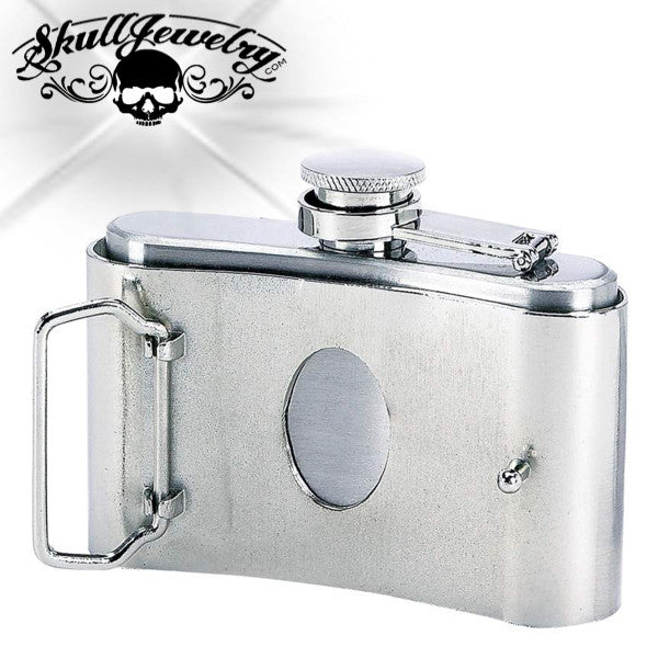 Stainless Steel Belt Buckle Flask