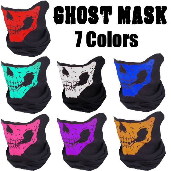 Ghost Skull Face Mask - 14 Different Uses