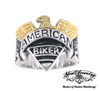 gold american biker ring with eagle