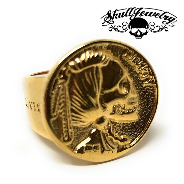 gold-tone 524gold hobo coin ring