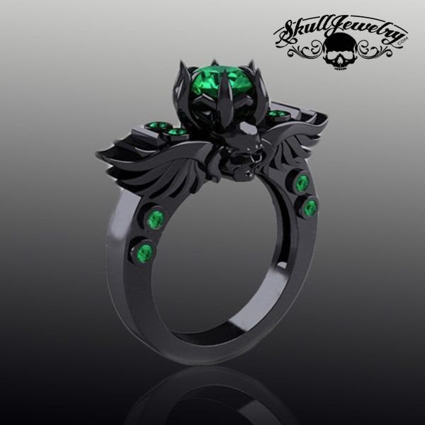 Gothic Black Wedding Ring