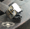 Badass Angel of Death Skull Ring