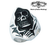 Stainless Steel Skull Ring With Grim Reaper (045)