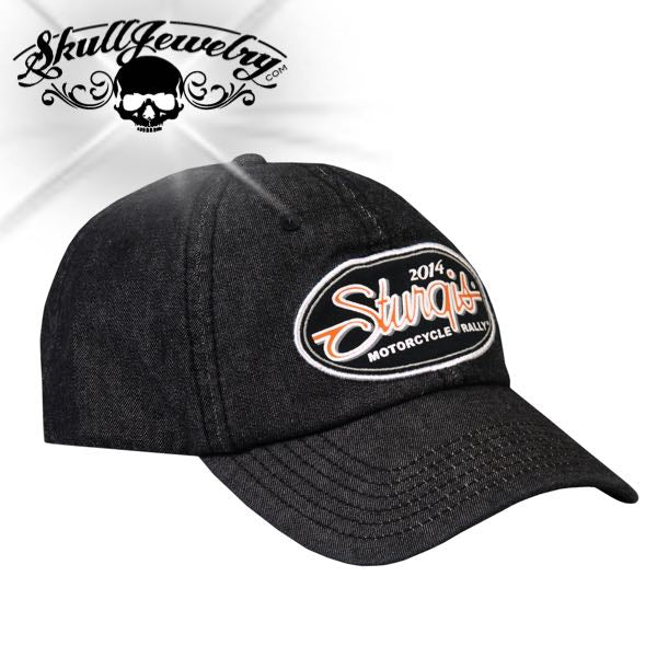 Sturgis Motorcycle Rally Oval Script Ball Cap