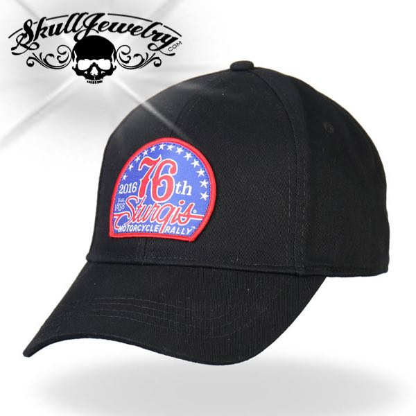 Sturgis Motorcycle Rally 76th Logo Ball Cap