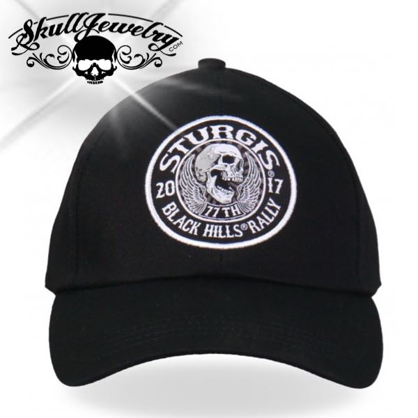 Official 2017 Sturgis Motorcycle Rally Stitches Ball Cap