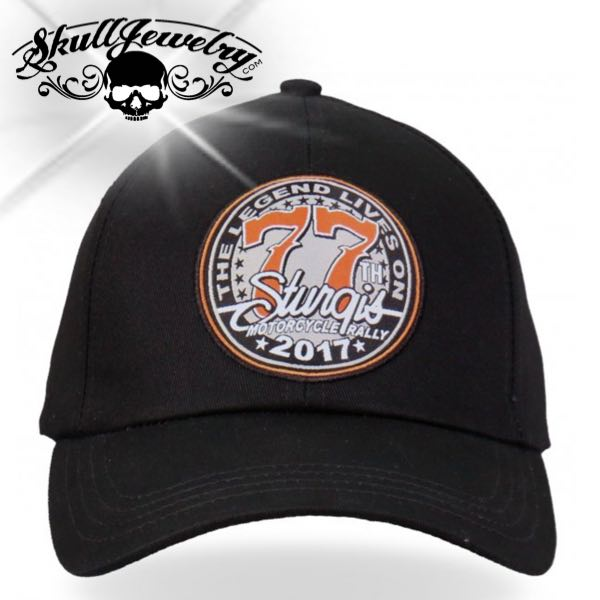 Official 2017 Sturgis Motorcycle Rally Logo Ball Cap