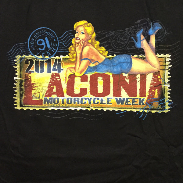 Black - Laconia 2014 Weirs Beach T-Shirt (2XL)
