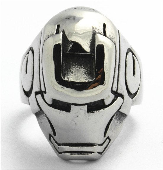 Stainless Steel IRON MAN Robert Downey Jr. Hero Ring (383)