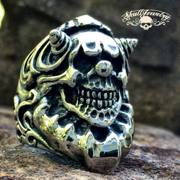 'KillJoy' Stainless Steel Clown Ring
