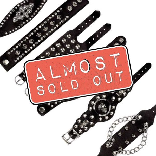 leather biker bracelets - almost sold out
