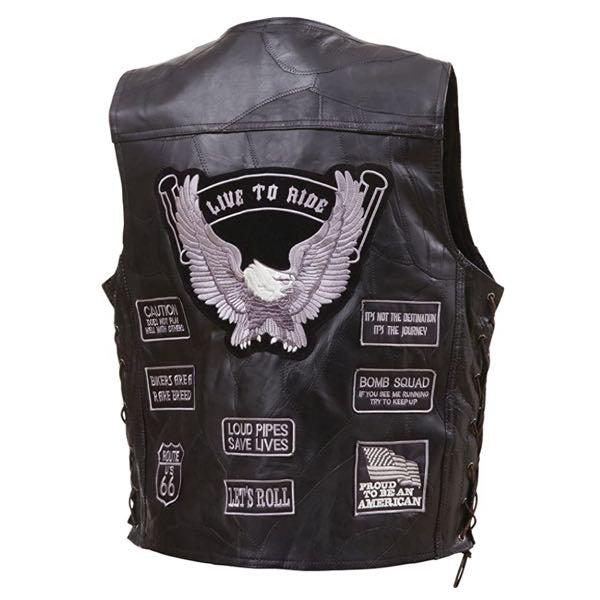 leather closeout 4x vest