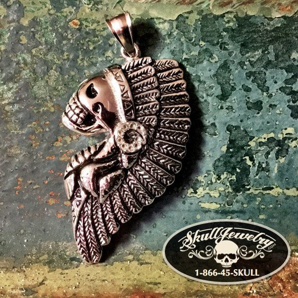 Native American Indian Headdress Pendant