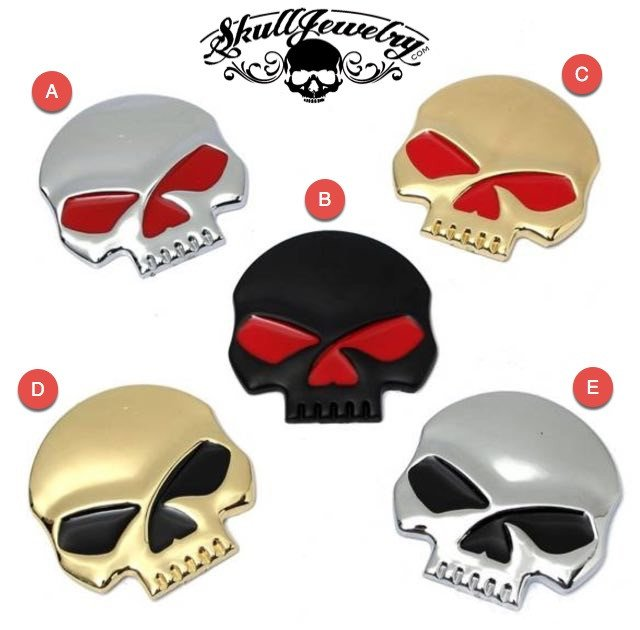 Skull Emblem - Various Colors