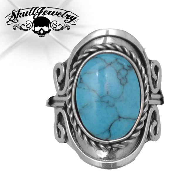 'Moondance' Turquoise/Silver Ring