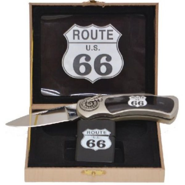 Historic Route 66 - Lighter/Knife  Gift Set (M0366)