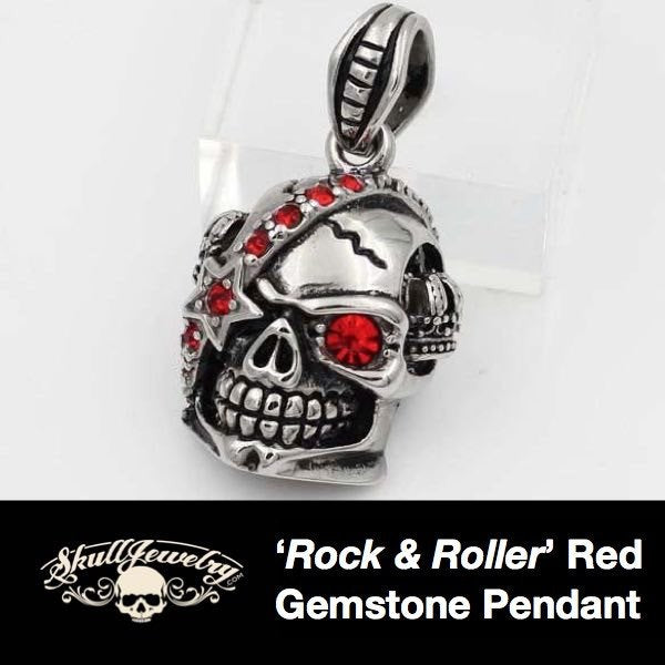 Rock & Roller Red Gemstone Pendant