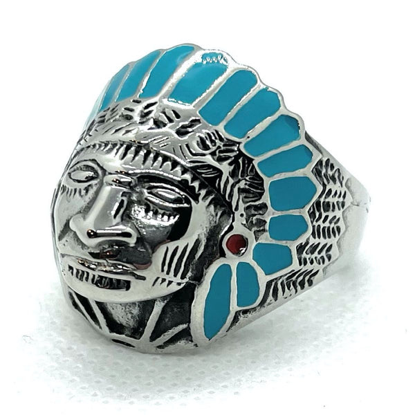 'Shaman Blues' Native American Ring (#237)