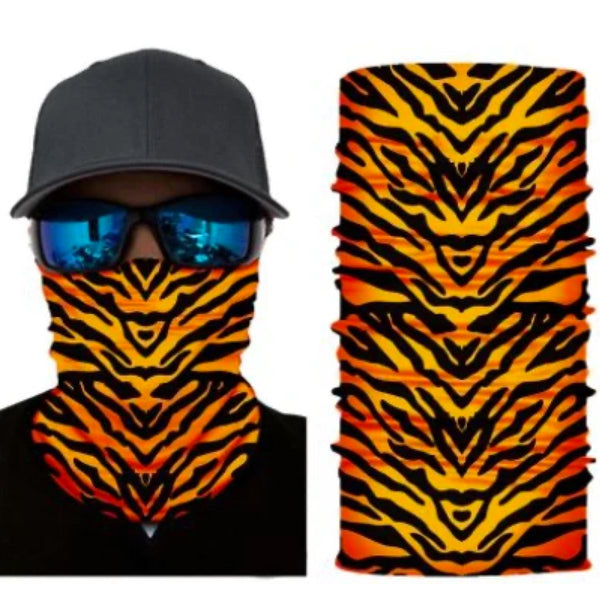 Orange Tiger Stripes Mask/Bandana