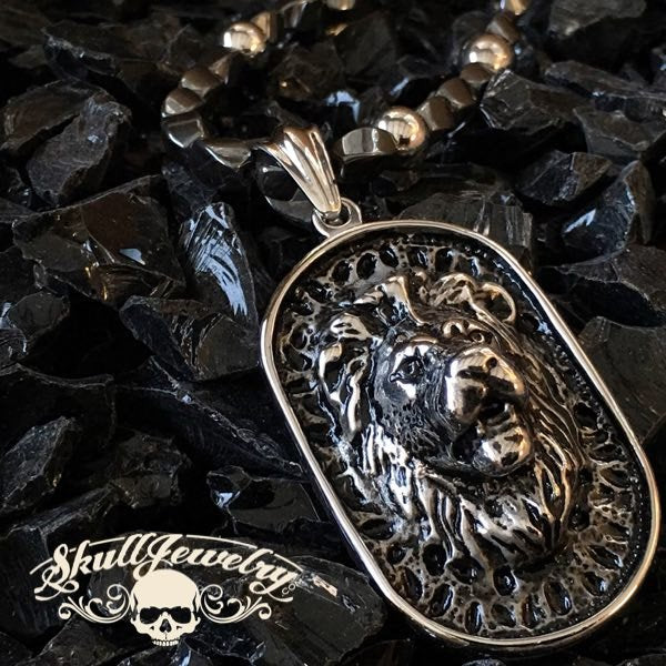 Big, Bold & Heavy Lion Pendant with Heavy Chain