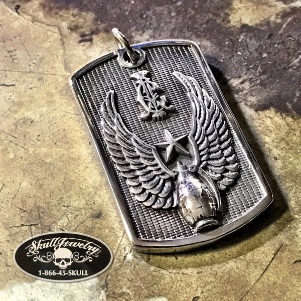 'Winged Warrior' Dog Tag Pendant
