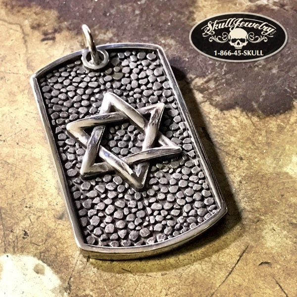 star of david dog tag