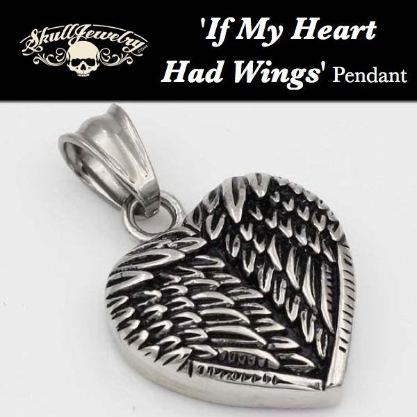 'If My Heart Had Wings' Heart with Wings Pendant