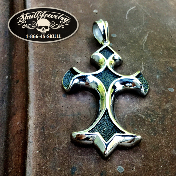 'Chiseled In Stone' Cross Pendant
