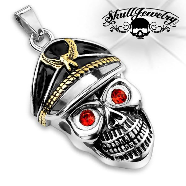 'I'd Rather Die a Soldier Than a Coward' Skull Pendant