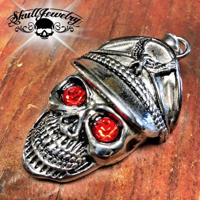 'I'd Rather Die a Soldier Than a Coward' All Stainless Skull Pendant